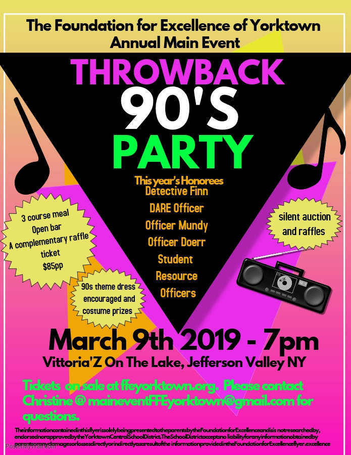 The Annual Event is back! The FFE is taking you back to the 90s